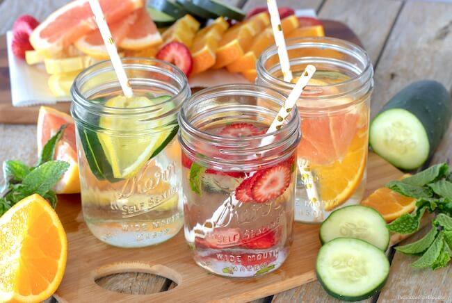 Fruit infused water is a delicious way to stay hydrated and provide your body with extra healthy goodness. Plus it looks beautiful too!