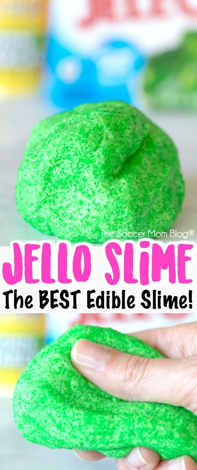 The original and BEST edible Jello slime recipe is only 3 ingredients and changes color when you mix it! Click for easy VIDEO tutorial & instructions.