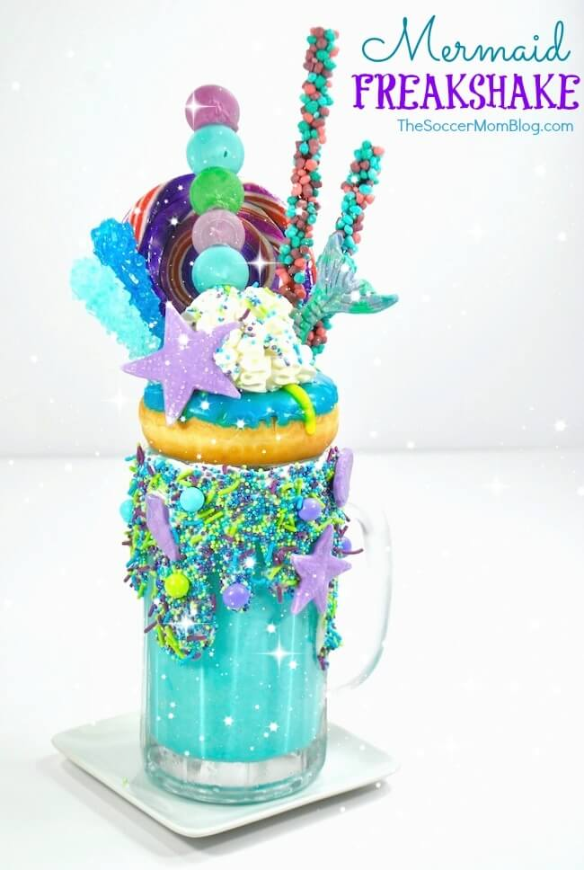 Let your culinary imagination run wild with this over-the-top spectacular Mermaid Freakshake!