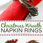 5 Minute Diy Christmas Wreath Napkin Rings The Soccer Mom Blog