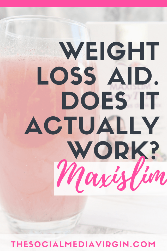 How to lose weight with an added help - Maxislim Berry weight loss aid drink review | The Social Media Virgin - Mature Lifestyle Blog