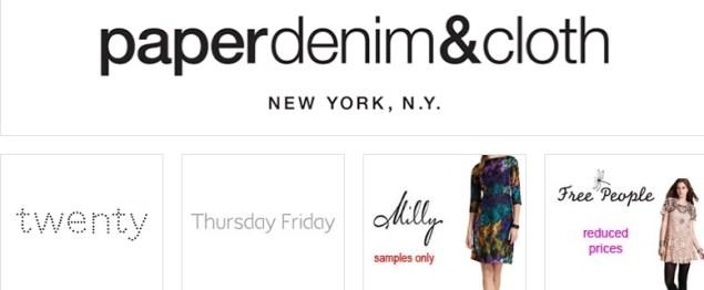 paperdenim & cloth sample sale