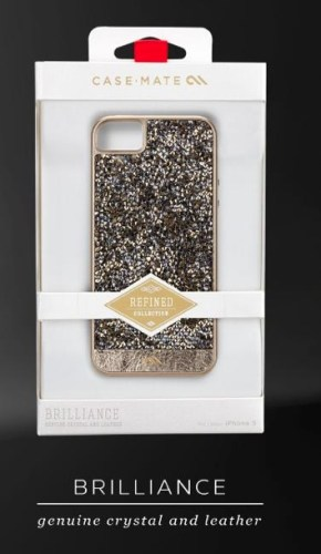 genuine crystal and leather case