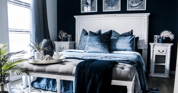 dark paint in bedroom