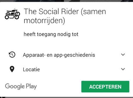 The Social Rider App op Windows - Samen Motorrijden - Motor toeren