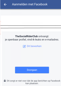 TheSocialRider facebook machtingen
