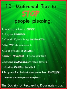 mativersal tips to stop people pleasing