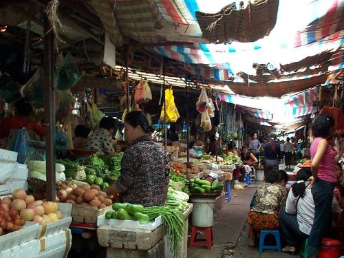 A Market in Cambodia. Via Wikimedia Commons