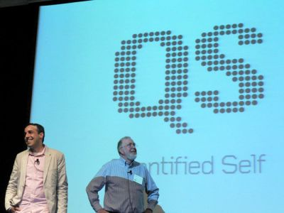 Gary Wolf (L) and Kevin Kelly (R) at QS 2012. (Image credit: Marc Smith)