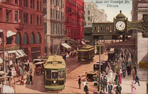 postcard-chicago-state-street-at-randolph-signs-streetcar-turning-crowds-elevated-station-stunning-1914