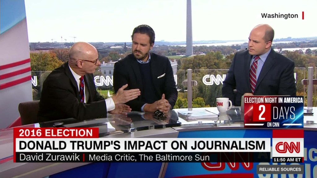 CNN discusses Donald Trump's Impact on Journalism