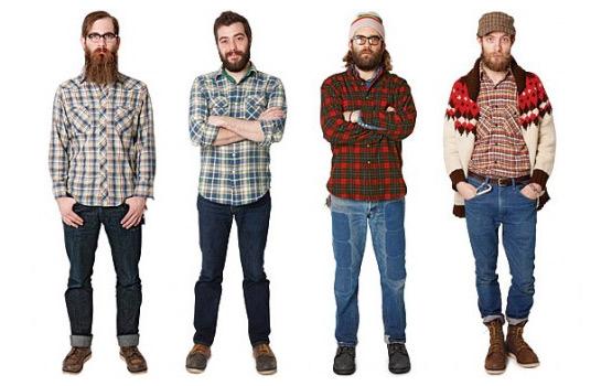 hipster line-up