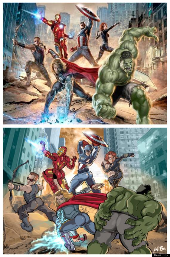 Comic Book Kevin Bolk - Sexist Avengers
