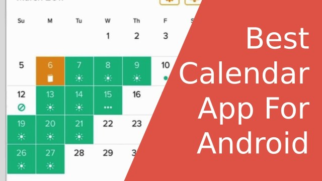 Best Calendar App for Android