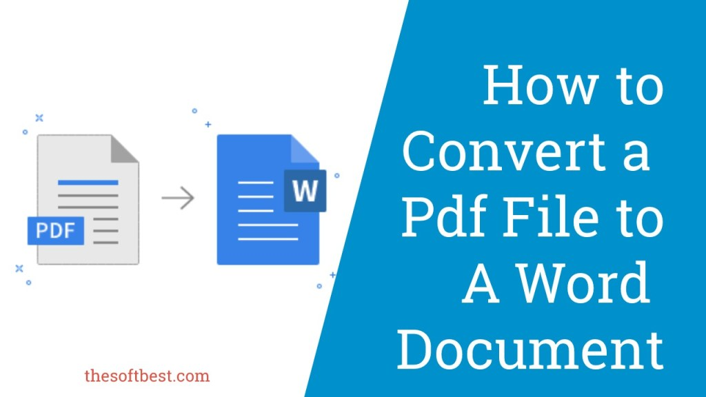 How to Convert a Pdf File to a Word Document