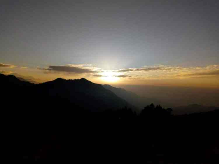 Sunrise at himalayas