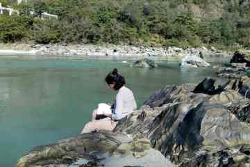 Writing by Ganga River