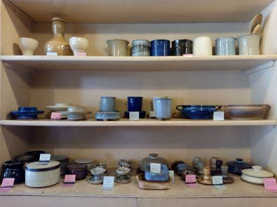 Stoneware in potters shed
