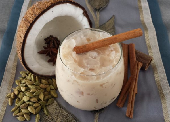 iced coconut chai latte scaled