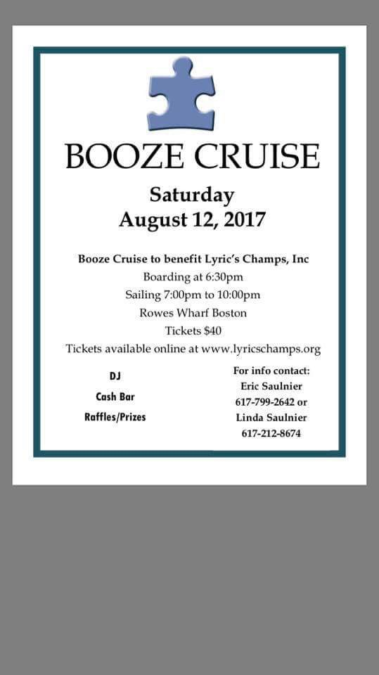 Booze cruise to benefit lyrics champs inc the somerville news we are excited to announce that back in april lyrics champs was able to gain official 501c3 charity status our website is up and running and its all stopboris Image collections