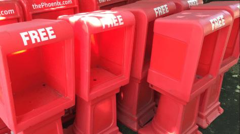 news boxes empty