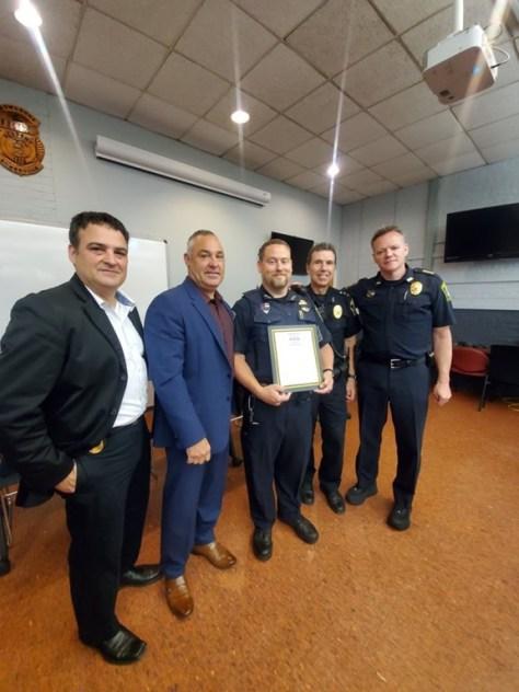 Somerville Police Department Combat Cross Presentation | The