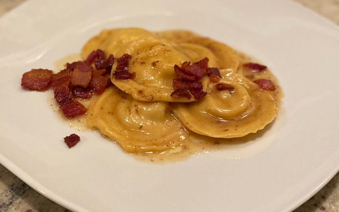 Ravioli and Bacon Beurre Blanc