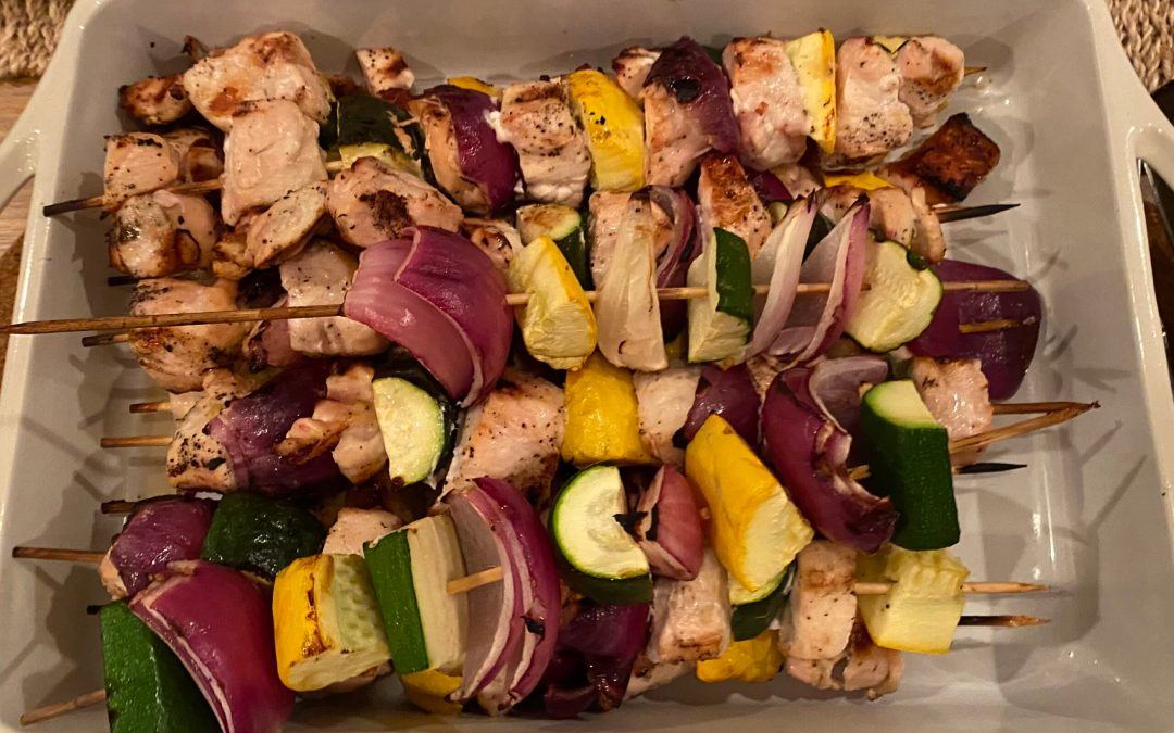 Lemon Chicken Skewers with Reduced Balsamic