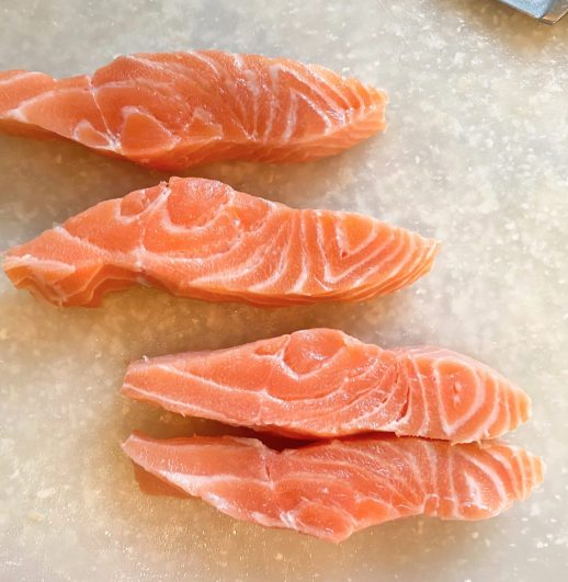 Center Cuts of Salmon for fish tacos
