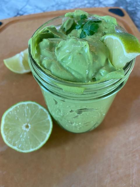 Dairy Free Cilantro Lime Crema
