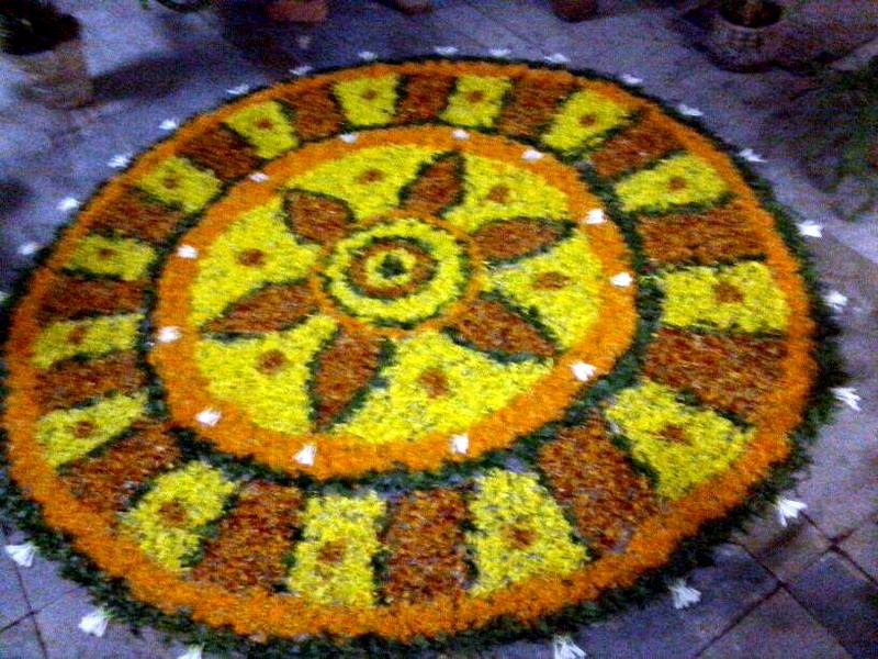 Pookalam A Special Flower Arrangement in Kerala