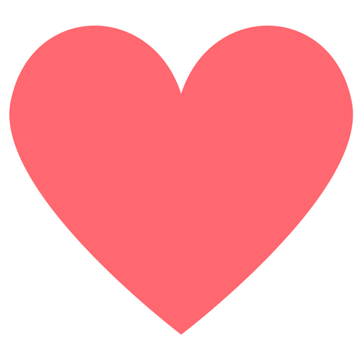 Coral coloured heart icon