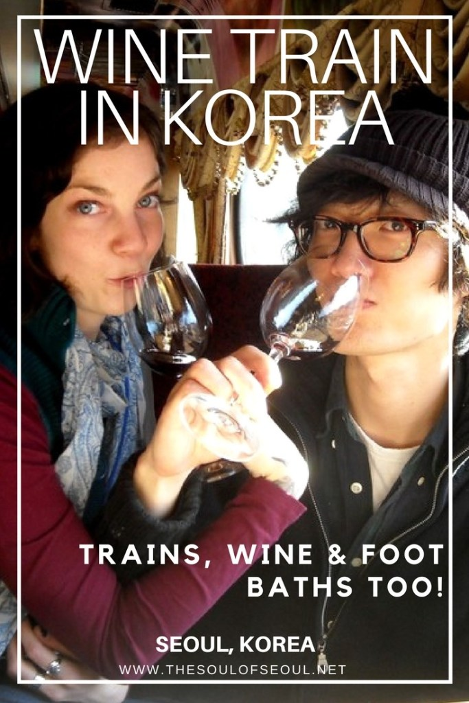 Korean Wine Train: Take the wine train from Seoul out to a countryside winery and enjoy wine along the way as well as a buffet meal. Soak your feet in a wine foot spa and more on this awesome adventure on a train in Korea.