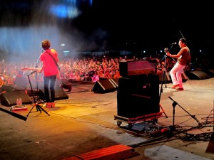 Busan, Korea: Busan Rock Festival, Every Single Day live in concert. Photo from backstage. Korean indie musicians.