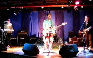 Seoul, Korea: Every Single Day, Sung-nam Moon live in concert at Club ta in Hongdae, Seoul, Korea. Korean indie musicians. Bassist.