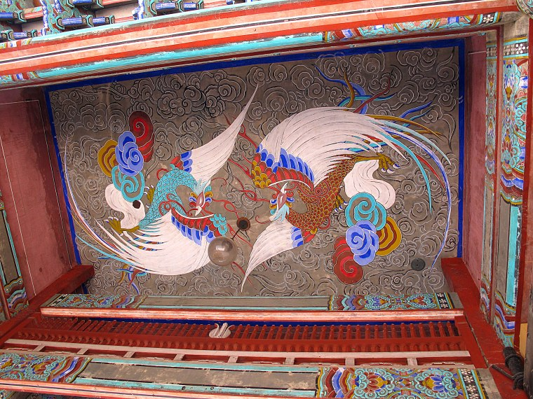 Seoul, Korea: Gilsangsa Temple, Gate Art