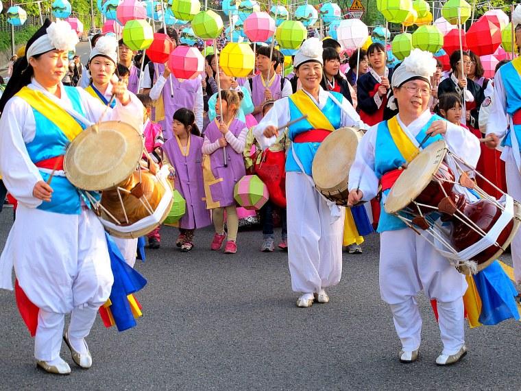 Seoul, Korea: Lotus Lantern Festival 2013, Near Dongguk Uni at the beginning