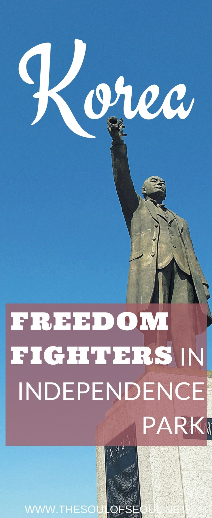 Freedom Fighters in Independence Park, Seoul, Korea: Seodaemun Independence Park was built on the grounds of what used to be a prison for freedom fighters and activists during the Japanese occupation.