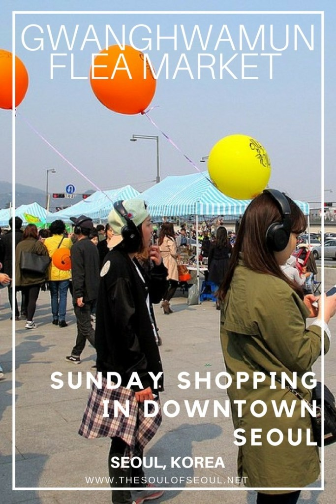Gwanghwamun Flea Market, Seoul, Korea: A flea market takes over Gwanghwamun Square in Seoul, Korea on Sundays from spring through summer. Check it out to buy some good treats from used clothing to artisanal products too. Check it out when you have the time.