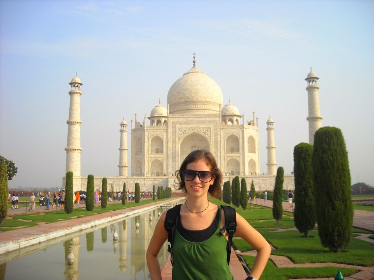 Hallie at the Taj Mahal, Agra, India
