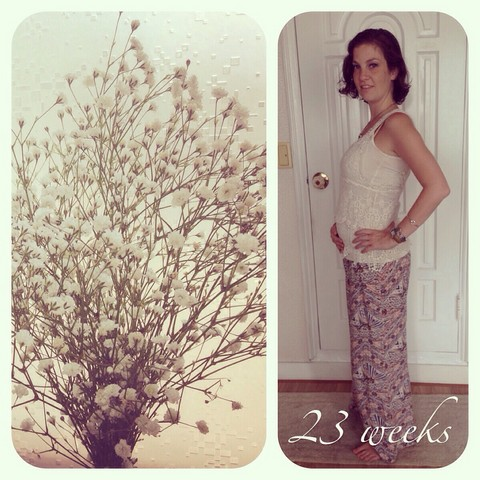 July on the go, pregnant 23 weeks