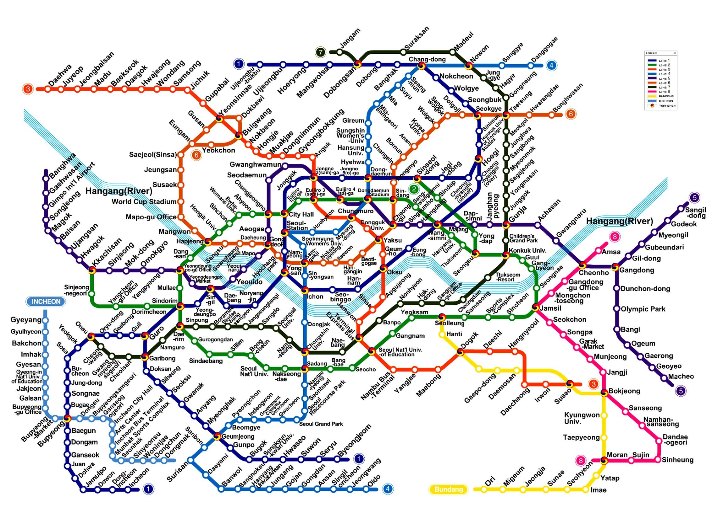 Seoul Subway Map Seoul Subway Map | The Soul of Seoul Seoul Subway Map