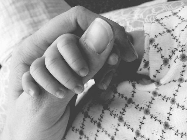 Baby hand in my hand