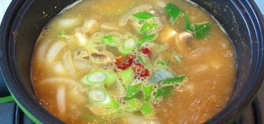 Korean Cooking: Fermented Soybean Paste Soup 된장찌개
