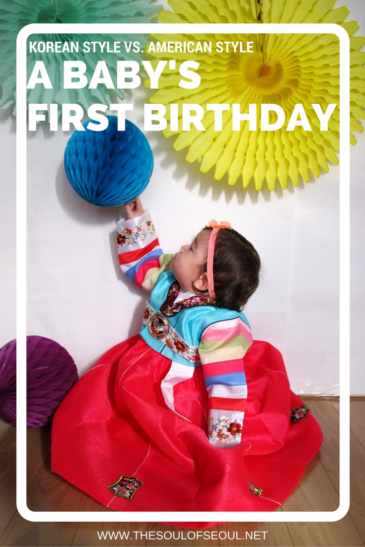 A Baby's First Birthday: Korean Style vs. American Style: How to perform a doljanchi, a traditional Korean ceremony on a child's first birthday in Korea and how to compromise the events with the American style birthday party.