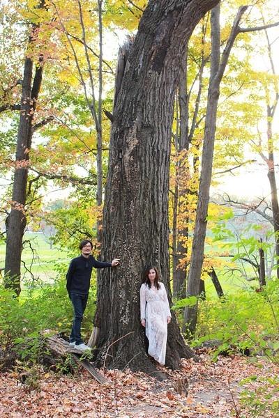 Dayton, Ohio: Family Portrait; Autumn leaves, Hallie & Jae-oo
