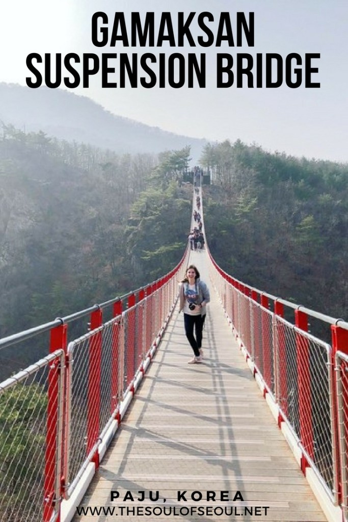 Gamaksan Suspension Bridge & Nuri Peace Park Near The DMZ: The Gamaksan Suspension Bridge was the longest in Korea. It offers great views and is easy to get to as is Nuri Peace Park and the interesting artworks there at Imjingak.