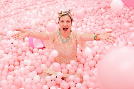 Fruit Museum, Seoul, Korea: Hallie Bradley, pink ball pit