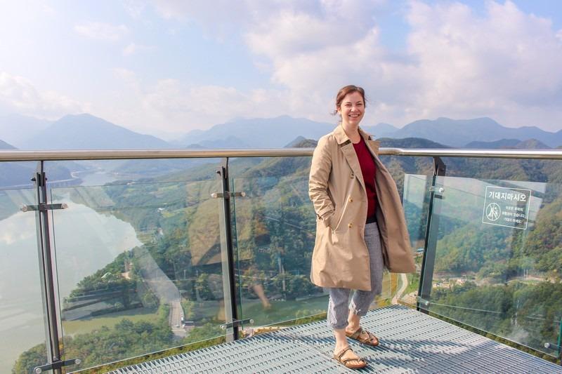 Mancheonha Skywalk, Danyang, Korea: Hallie Bradley