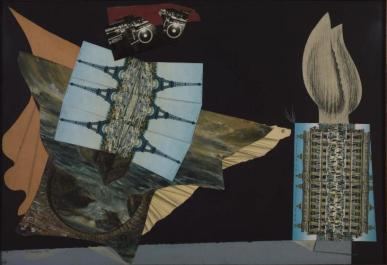 Magnetic Moths, 1938. Cartoline, matita e acquerello su carta incollata su carta incollata su tavola; 558 x813 mm